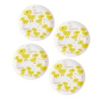 """Set of (4) Pier 1 CHIRP Melamine Salad Plates SPRING EASTER Baby Chicks  8"""" NWT"""