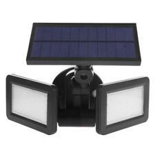 Dual Head 48 LED Solar Wall Light Radar Sensor Waterproof Garden Spotlight Lamp
