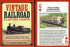 Vintage Railroad Playing Cards Poker Size Deck USGS Trains Custom New Sealed