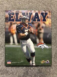 VINTAGE 1997 STARLINE JOHN ELWAY WOODEN PLAQUE DENVER BRONCOS NFL