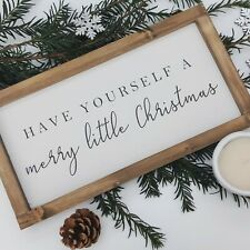 Christmas Wooden Signs Sign Handmade Framed Wall Home Decor Rustic Gift