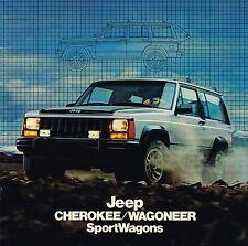 Lrg. 1984 JEEP WAGONEER / CHEROKEE Sport Wagon Brochure / Catalog, '84