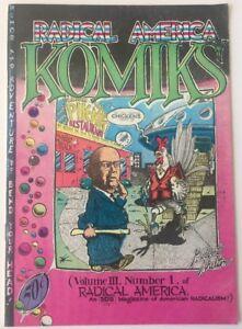 Radical America Komiks Vol III #1 1st Print Shelton Cover 1969