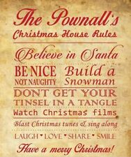 Christmas house rules A4 print