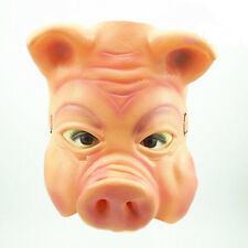 Halloween Cosplay Horror Pig Latex Rubber Mask Fancy Dress Costume Outfit