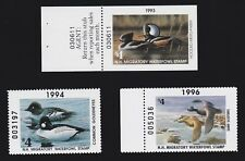 Us Nh11a, Nh12, Nh14 $4 New Hampshire State Duck Stamp Lot Scv $32
