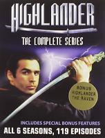 Highlander Complete TV Series Season 1-6 1 2 3 4 5 6 119 Episodes New DVD Se...