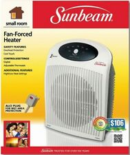 Sunbeam Fan-Forced Electronic Portable Heater with 1 Touch Electric Thermostat