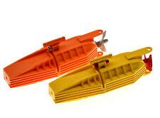 Genuine LEGO Submarine Marine Ship Boats x2 Yellow Orange Propellers Models RARE