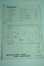 Bang & Olufsen Beovision LX2500 / L2500 / LX2800 / L2800 Service Manual