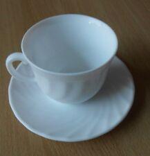 -----Luminarc Trianon Kaffeetasse 220ml mit Untertasse Opalglas Weiß 6 Personen