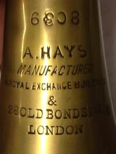 Extremely Rare Brass & Nickle horn by Alfred Hays  Royal Exchange & Old Bond St