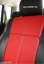 6 x Audi Quattro Auto Kopfstütze Aufkleber Grafik Logo Farbauswahl