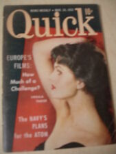march 24 1952 QUICK News Weekly Magazine Ursula Theiss cover + Coconut Grove Ad