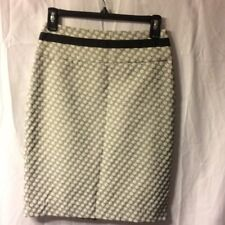 The Limited Black & Cream Knit Pencil Midi Skirt Size 0
