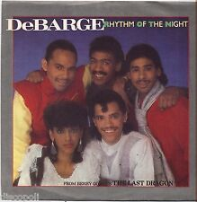 "DeBARGE - Rhythm of the night - VINYL 7"" 45 ITALY 1985 NEAR MINT COVER VG+"