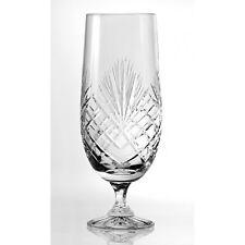 Beer/Pilsner Footed Glass 1Pint Fully Cut 24% Lead Crystal Dishwasher Safe 121MJ