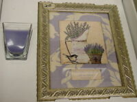 Vintage Home Interiors & Gifts Mother Day Picture & Candle New in Box Lavender