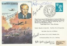 HA4 Harris Cover  Signed by 6 Pilots, Crew on Dambuster Raid   May 16/17 1943