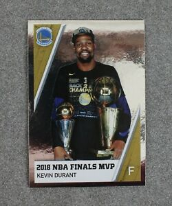 Kevin Durant Finals MVP 2018-19 Panini NBA Stickers Europe Edition #19 Foil