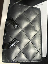Chanel black quilted lambskin  large CC  Key Holder case NWT AUTHENTIC !!