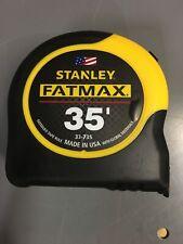 "STANLEY FATMAX 35' TAPE MEASURE #33-735  1 1/4""X35FT  FATMAX  BRAND NEW"