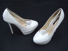 TONY BIANCO ANNE PEARL WHITE LADIES FORMAL DRESS HEELS SHOES SIZE 5.5 NEW