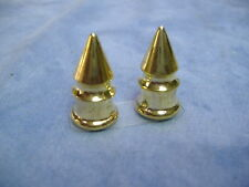 GOLD SPIKE VALVE CAPS LOW RIDER BEACH CRUISER BICYCLE