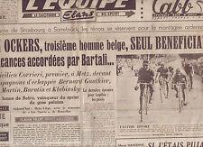 journal  l'équipe du 23/07/48 CYCLISME TOUR DE FRANCE 1948 CORRIERI OCKERS