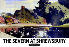 The Severn at Shrewsbury British Railways   Train Rail Travel  Poster Print