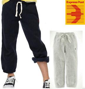 Kids Boys polo Cotton Casual Sport Track Pants 4 Colours size 120cm-170cm