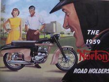 Norton 1959 PROSPEKT 99 88 ES2 50 Jubilee 250 MANX 30 OLDTIMER MOTORRAD SAMMLER