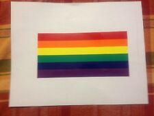 Rainbow bumper Sticker Gay Pride bumper sticker Lesbian Bumper Sticker free ship
