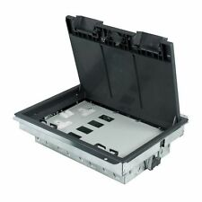 Compartiment boîte de sol 1 twin double prise + 1 - 4 données + 1 blanc