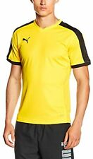 PUMA Men's T-shirt indoor court, Cyber Yellow-Black, L