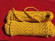 PP Seil, Festmacher, Ankerleine,Fender,Tauwerk,Bootsleine, gelb, 12 mm, 30 Meter