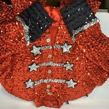 Professional Theater Annie Red Usherette Costume Sequin Top And Shorts