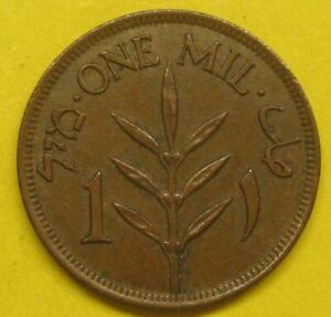 1927 Palestine One Mil Bronze Coin Take a Look