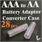28 Piezas Bater as Convertidor Adaptador Soporte de Funda Interruptor para AAA