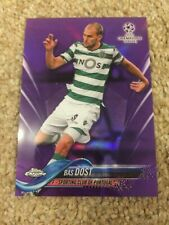 ++ BAS DOST 2017-18 TOPPS CHROME PURPLE #D UCL SOCCER CARD #77 - SPORTING CP ++