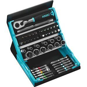 """HAZET 1/4"""" Steckschlüssel Bit Satz 2200SC-2 im Smart Case HiPer Ratschenkasten"""
