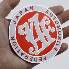 Red Metal JAF Japan Automobile Federation JDM Car Emblem Badge Decal Sticker