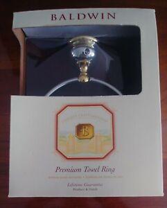 BALDWIN LAGUNA Premium TOWEL RING, 2 Toned BRASS 3544-263 New in BOX
