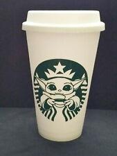 BABY YODA Reusable Starbucks Style - Plastic Grande Cup