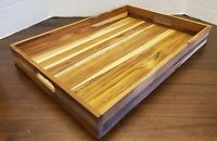 ⭐Lipper International⭐ Teak Wood Large Serving Tray with Cutout Handles⭐ NWT⭐