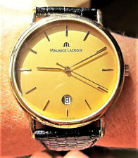 Gents Swiss GP Maurice Lacroix 7J Quartz Date Watch ESA 955.411 Serviced VGC