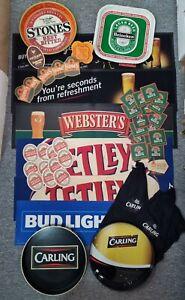 Job lot Bar runner ashtray pub memorabilia bundle-carling stones stella