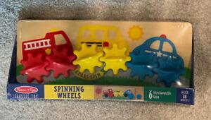 #1 NEW Melissa & Doug Spinning Wheels Gear Toy w/ 6 Interchangeable Gears 18 mth