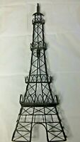 "Black Metal Eiffel Tower Paris France Wall Hanging 25"" Home Decor Silhouette"