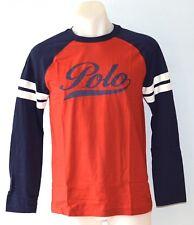 Ralph Lauren Boys Long Sleeve T Shirt-RED- SIZE-2,3,4,5,6,7,10-12,14-16 & 18-20